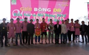 Đội Sơn Hà vô địch giải bóng đá Kiến trúc sư Hải Phòng 4