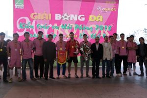 Đội Sơn Hà vô địch giải bóng đá Kiến trúc sư Hải Phòng 2