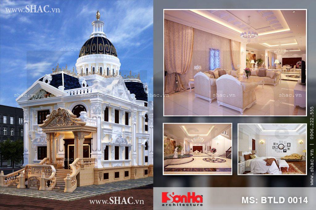 Biệt thự 3 tầng kiến trúc lâu đài Pháp cổ điển