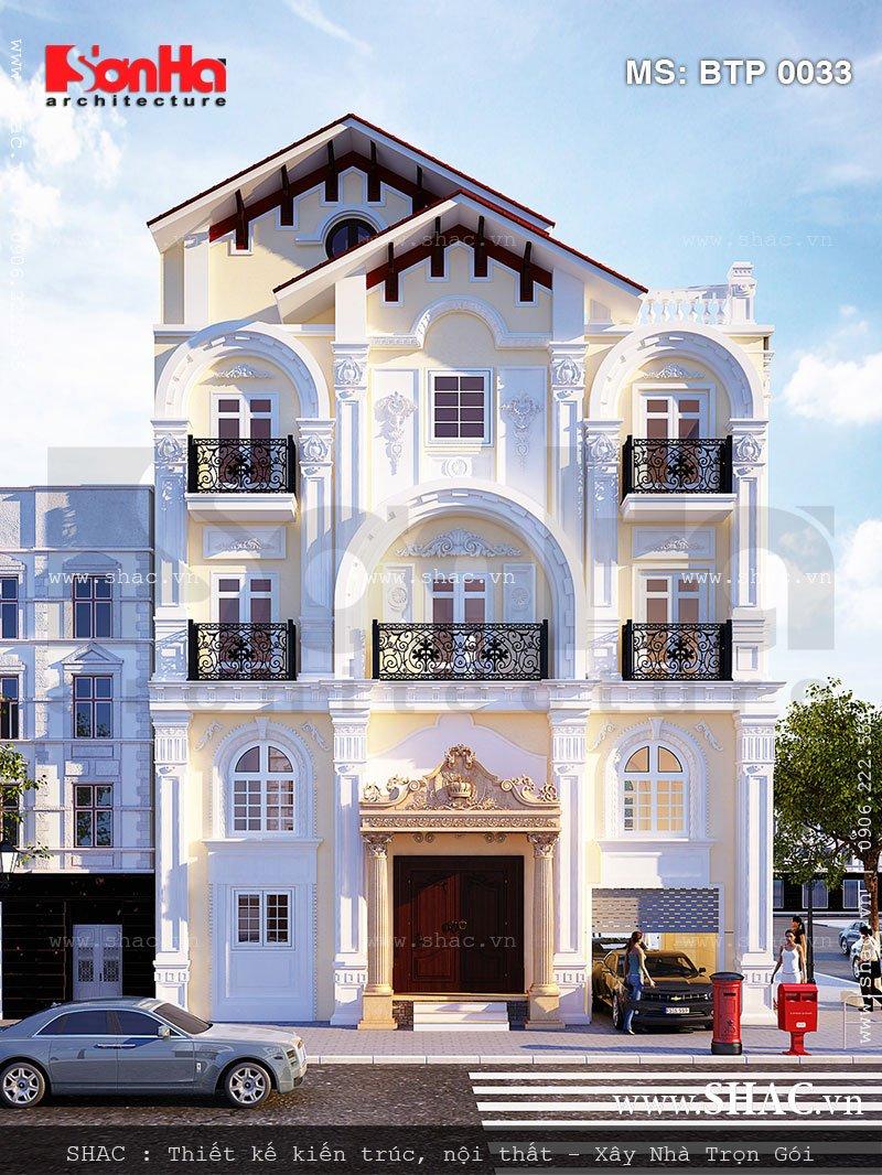 Mẫu biệt thự kiểu Pháp 4 tầng