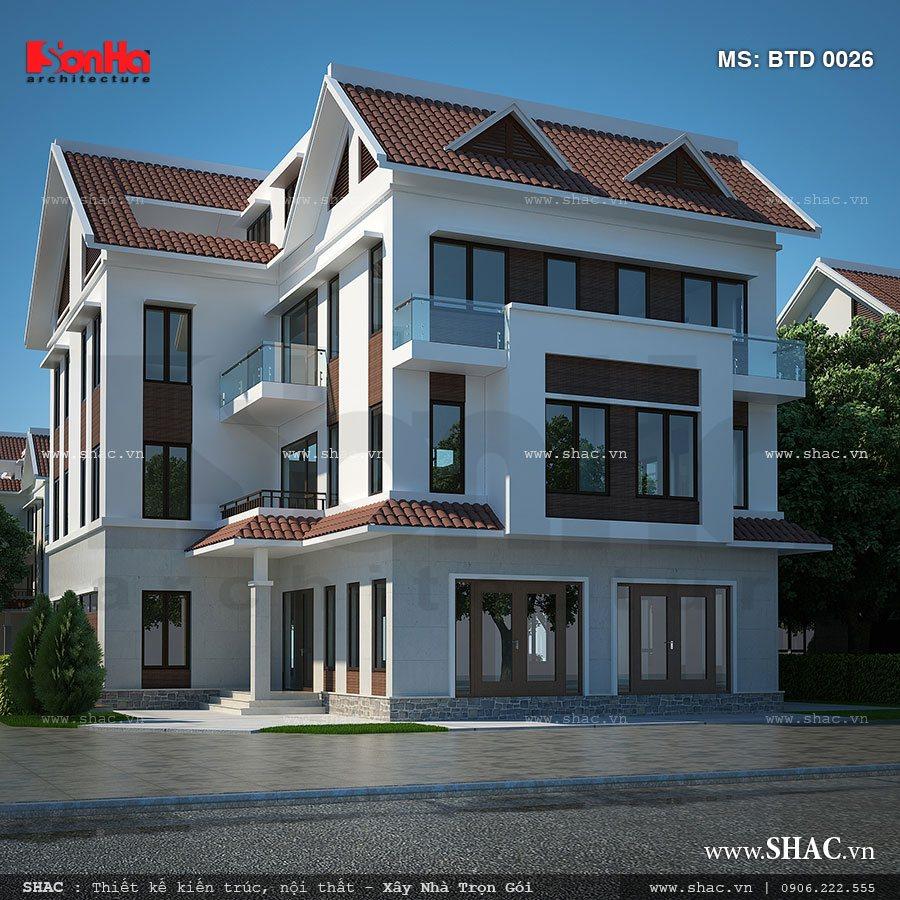 Biệt thự 4 tầng kiến trúc hiện đại - BTD 0026 5