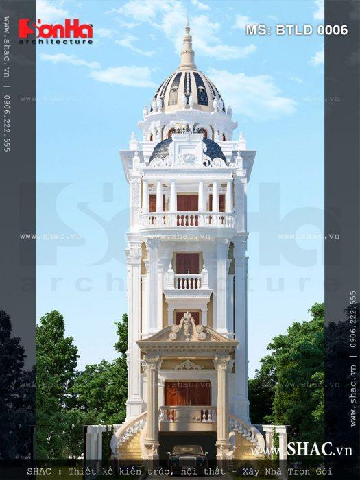 Kiến trúc biệt thự lâu đài 6 tầng đẹp