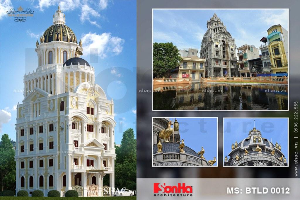Biệt thự lâu đài 6 tầng dát vàng