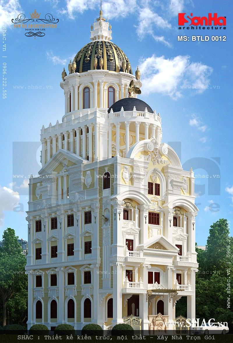 Biệt thự lâu đài 6 tầng dát vàng - BTLD 0012 1