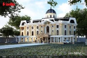 Biệt thự lâu đài 4 tầng kiến trúc Pháp cổ điển