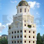 Biệt thự lâu đài kiểu pháp 6 tầng