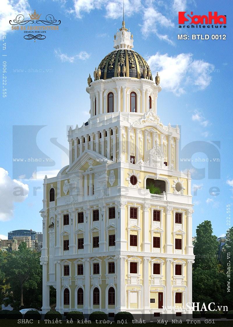 Biệt thự lâu đài 6 tầng dát vàng - BTLD 0012 2