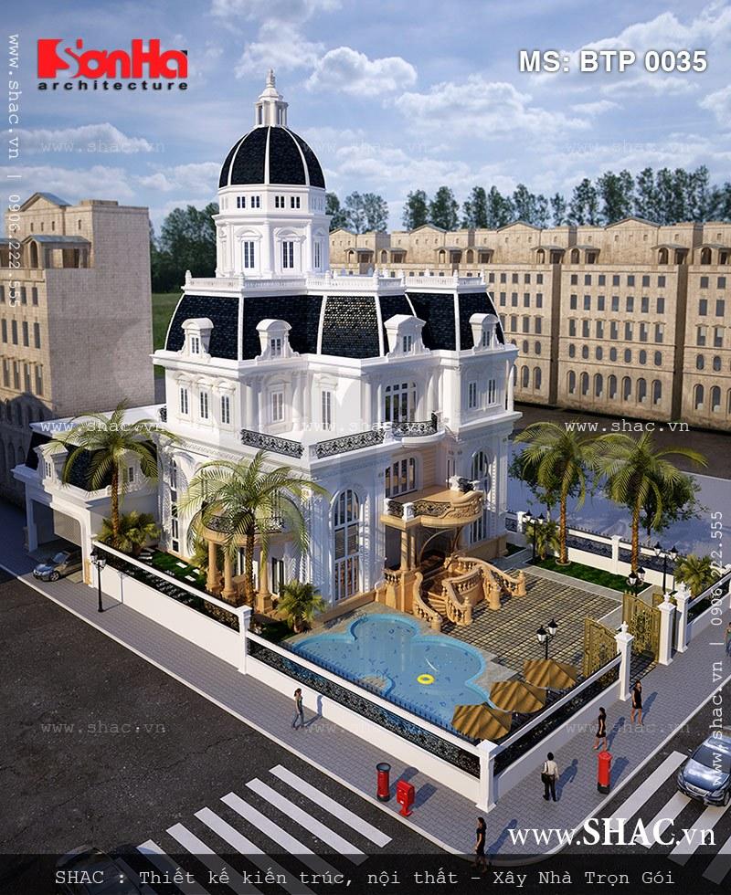 Toàn cảnh mẫu thiết kế biệt thự kiến trúc Pháp 3 tầng đẹp được chủ đầu tư vô cùng hài lòng