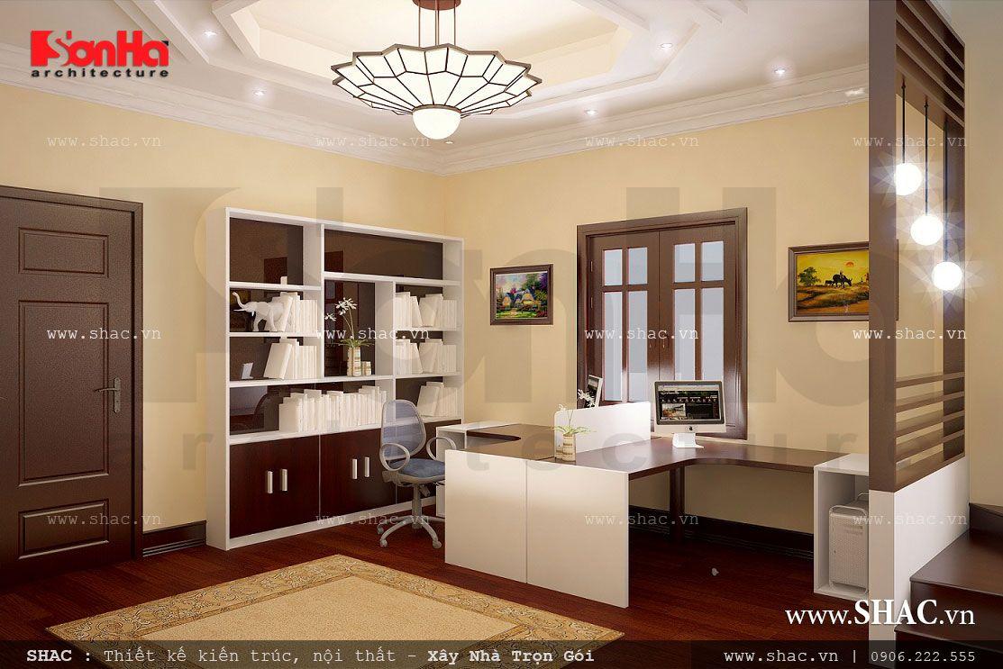 Biệt thự 3 tầng kiến trúc Pháp đẹp - BTP 0012 12