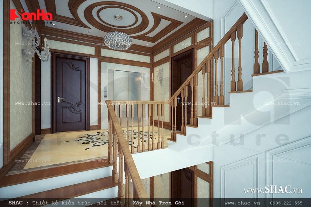 Thiết kế cầu thang gỗ đẹp