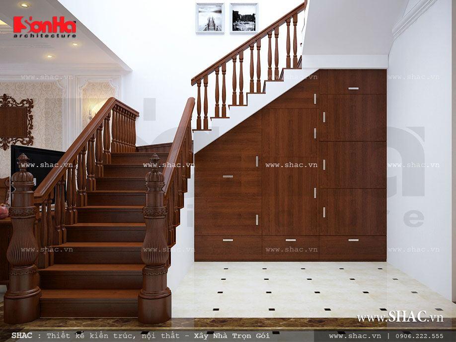 Thiết kế nhà ống 3 tầng kiến trúc Pháp - NOP 0033 13