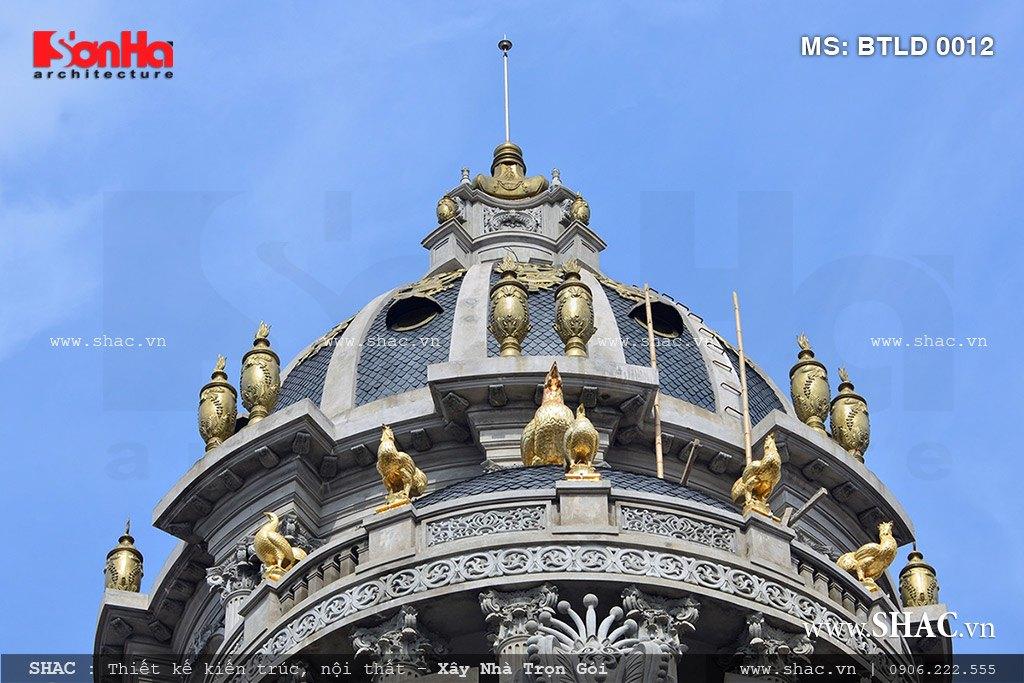 Biệt thự lâu đài 6 tầng dát vàng - BTLD 0012 11