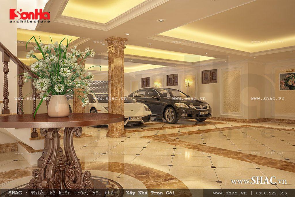 Thiết kế gara để ô tô biệt thự đẹp