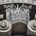 thiết kế hoa văn kiến trúc tinh xảo cho biệt thự dát vàng