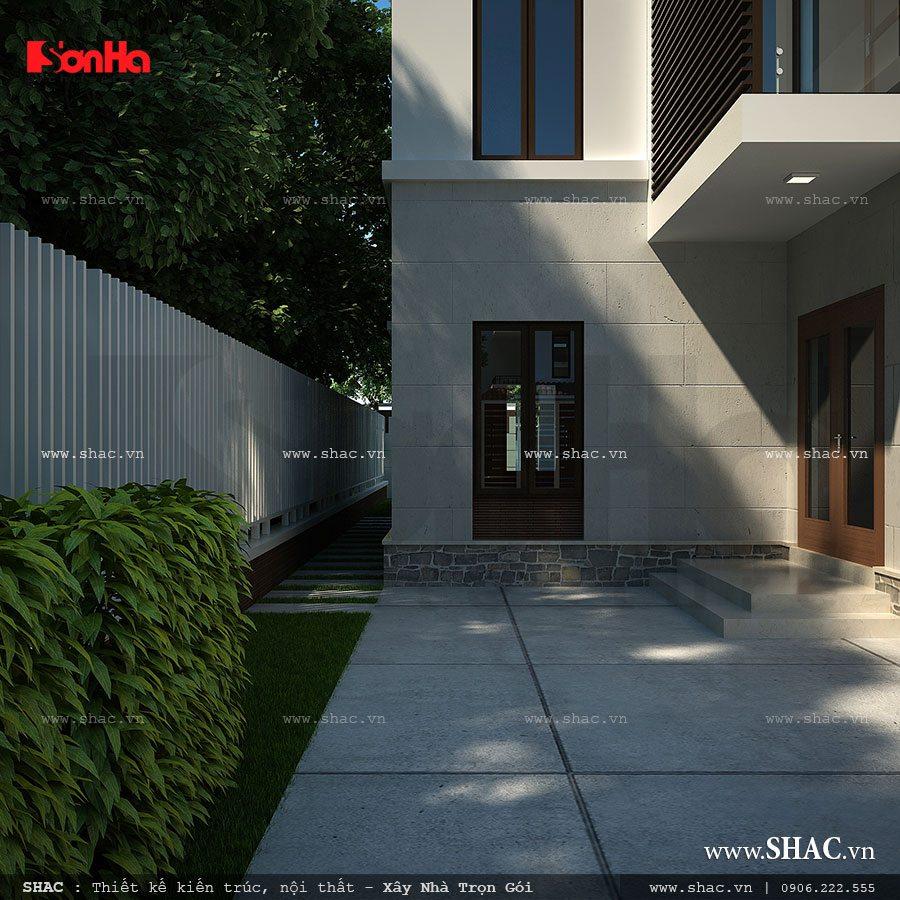 Biệt thự 4 tầng kiến trúc hiện đại - BTD 0026 7