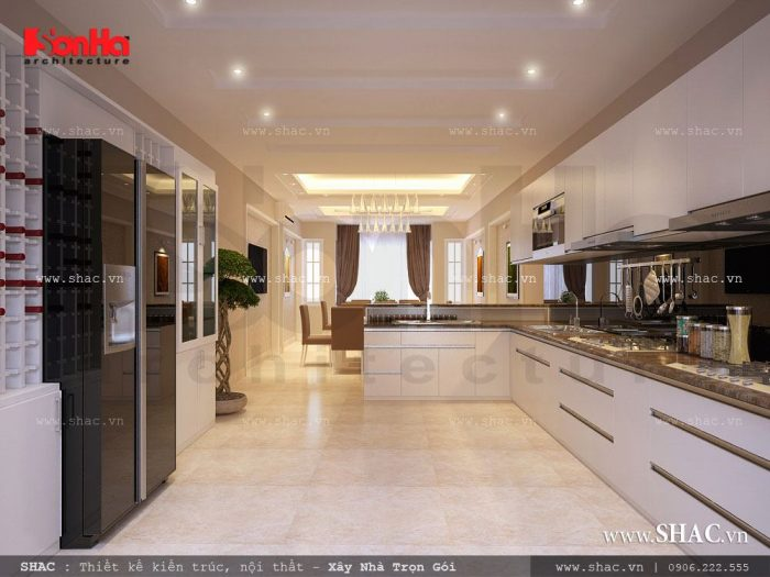 thiết kế nội thất phòng bếp ăn hiện đại