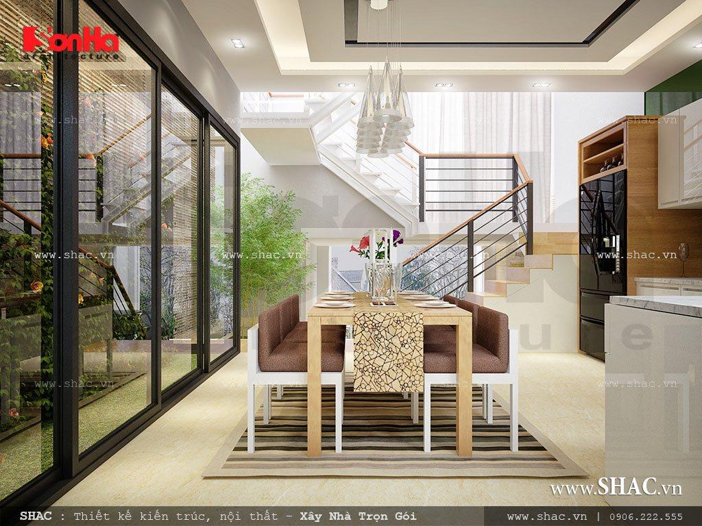 Thiết kế nhà ống 3,5 tầng theo kiến trúc hiện đại - NOD 0063 7
