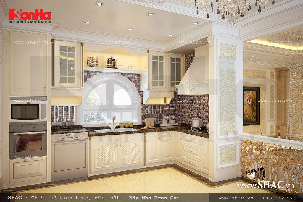 Không gian phòng bếp theo phong cách tân cổ điển