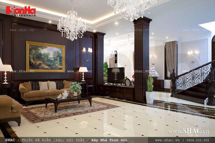 Thiết kế không gian phòng khách biệt thự đẹp mang tới sự hài lòng cho chủ sở hữu