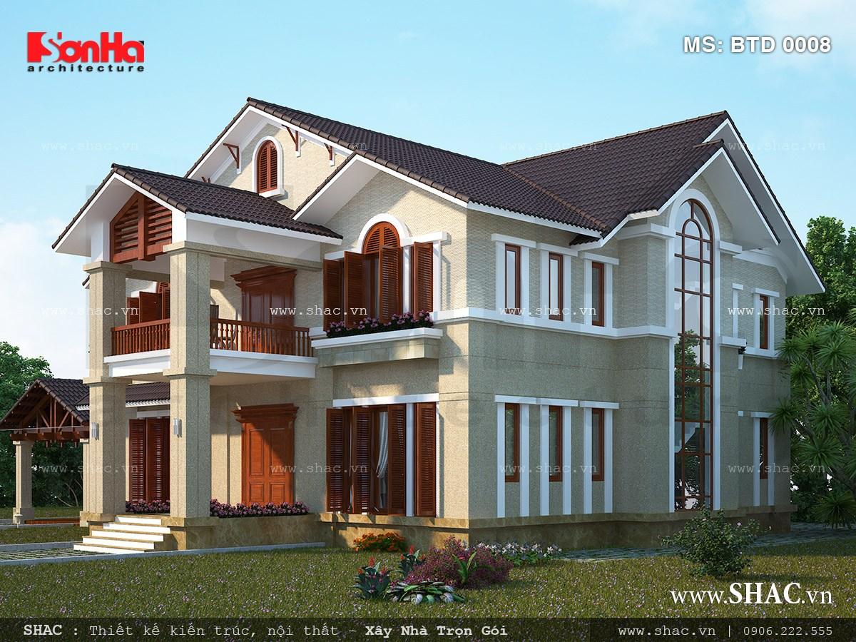 Biệt thự 2 tầng kiến trúc hiện đại - BTD 0008 2