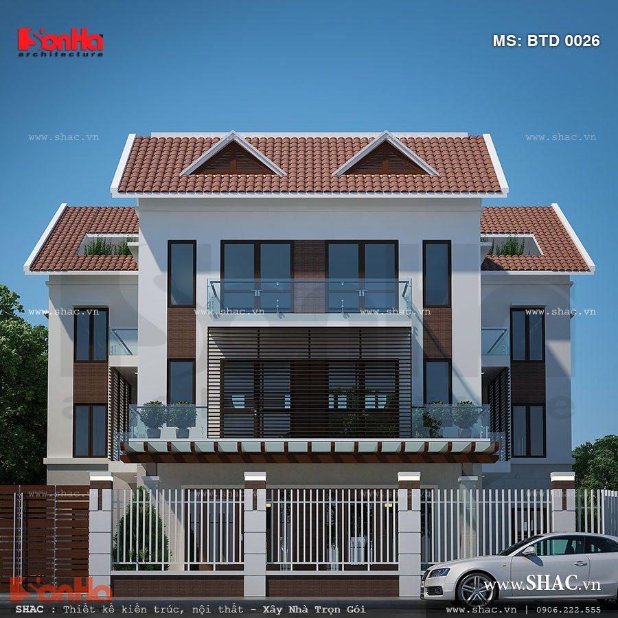 Biệt thự 4 tầng kiến trúc hiện đại - BTD 0026 2