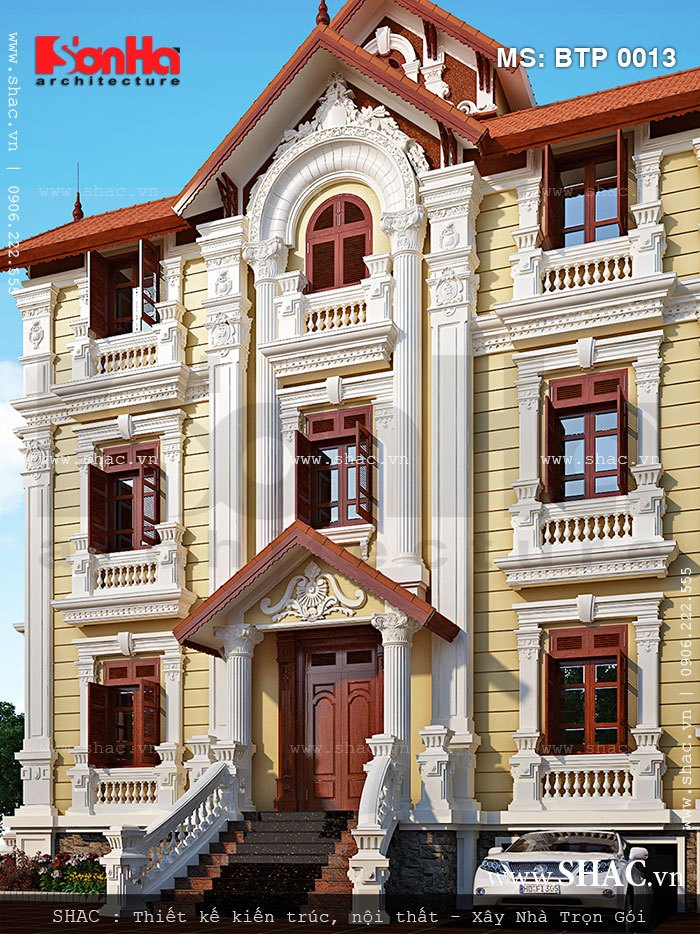Mẫu biệt thự kiểu kiến trúc Pháp