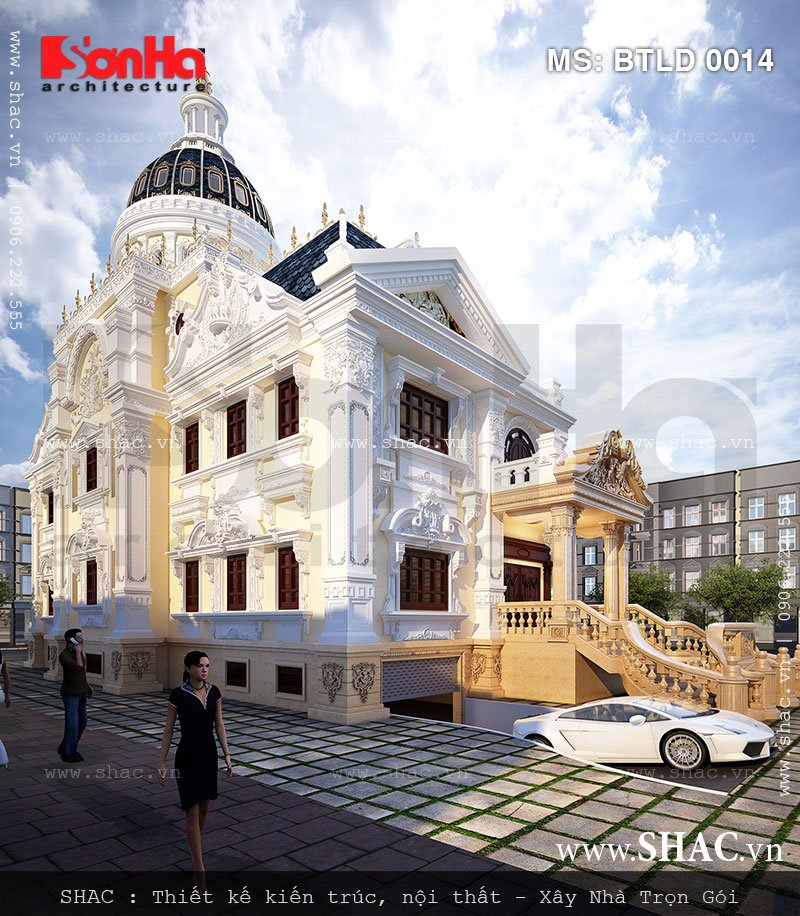 Sự quy mô và tinh tế trong thiết kế biệt thự Pháp cổ điển mang thương hiệu SHAC giàu bản sắc