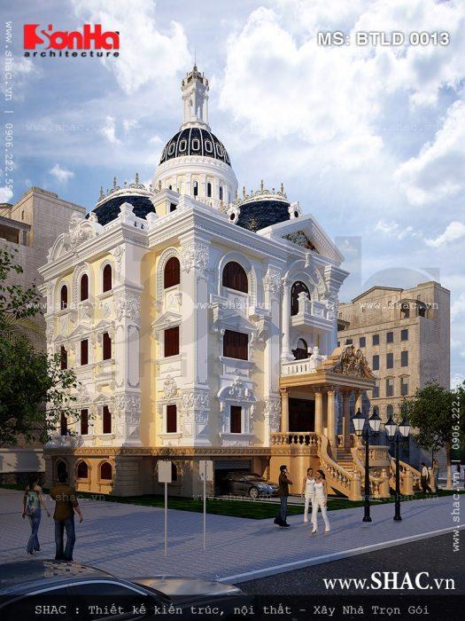 Thiết kế kiến trúc biệt thự lâu đài 5 tầng