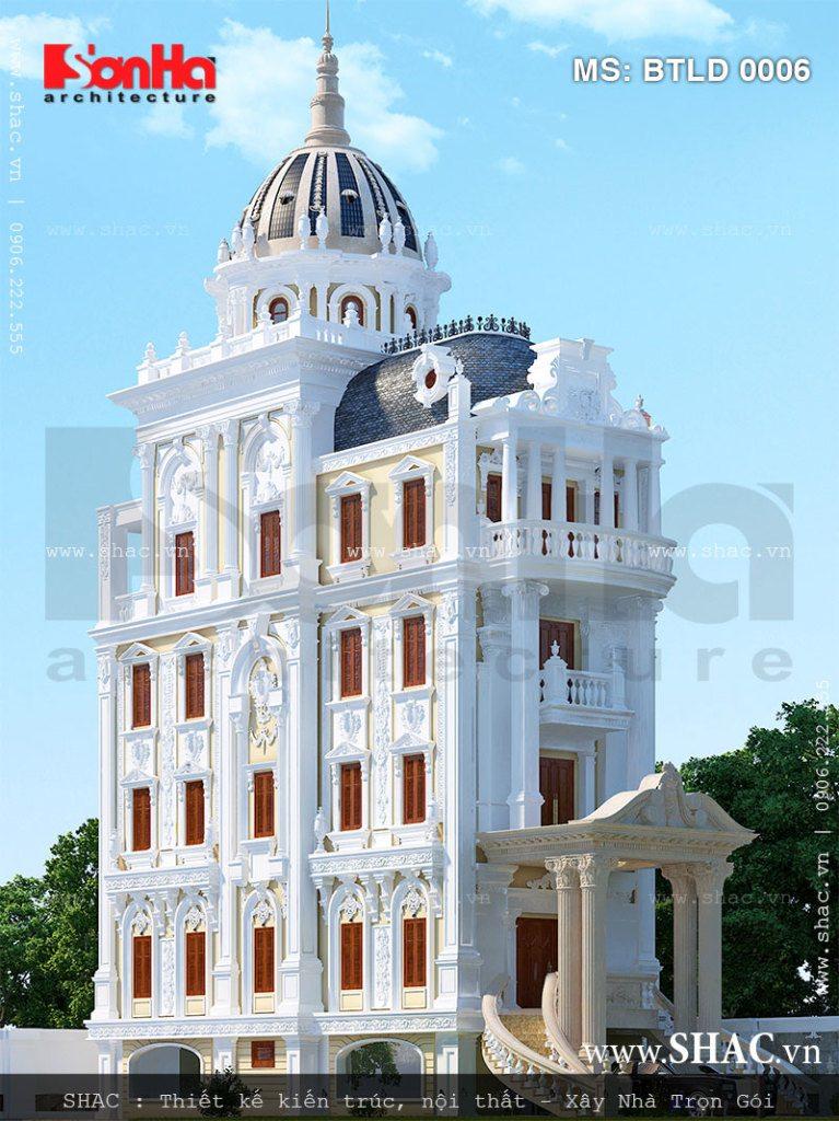 Biệt thự lâu đài 6 tầng kiến trúc Pháp