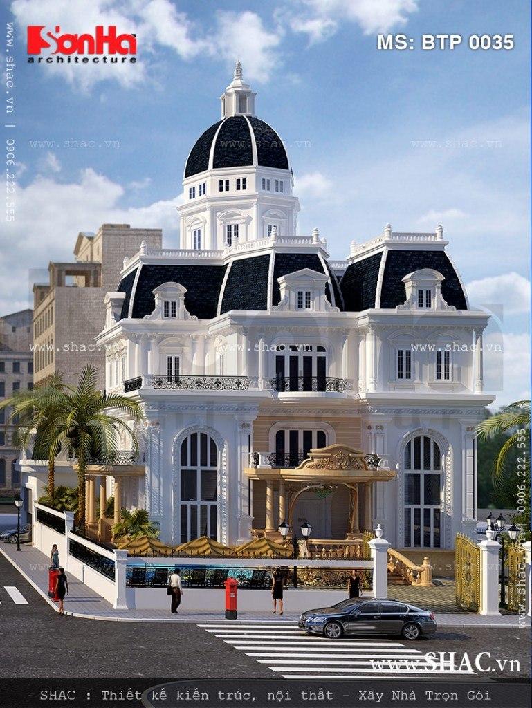 Biệt thự cổ điển kiến trúc Pháp 3 tầng