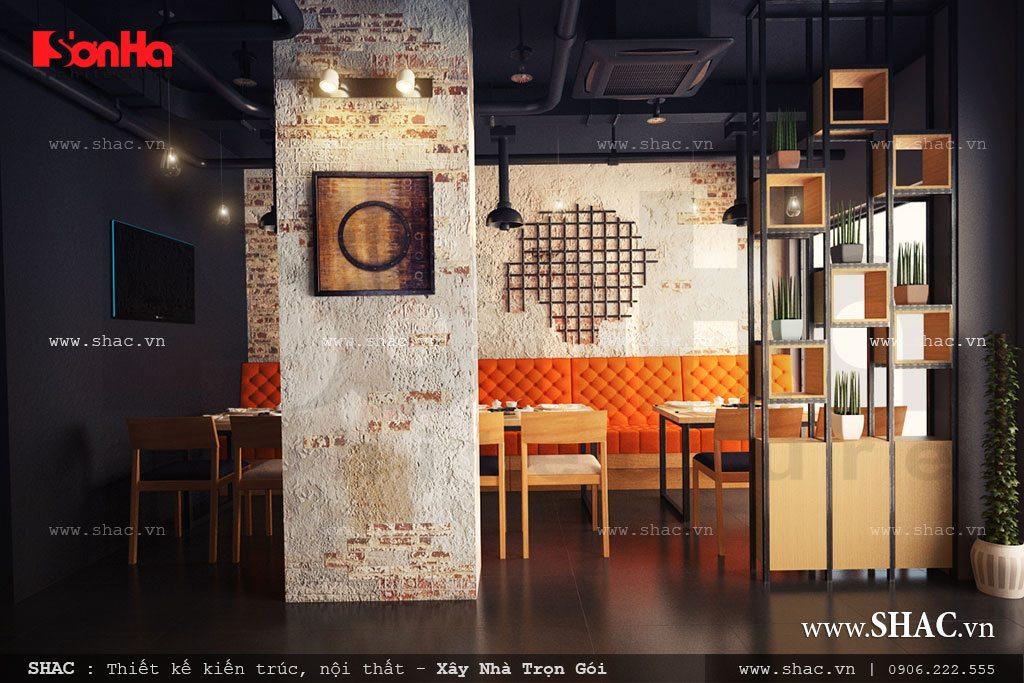 Thiết kế kiến trúc nhà hàng phong cách hiện đại