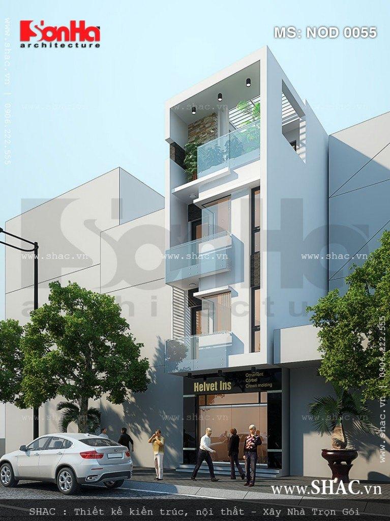 Thiết kế mẫu nhà phố 4 tầng đẹp
