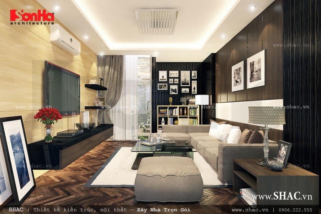 thiết kế mẫu phòng khách đẹp theo phong cách hiện đại