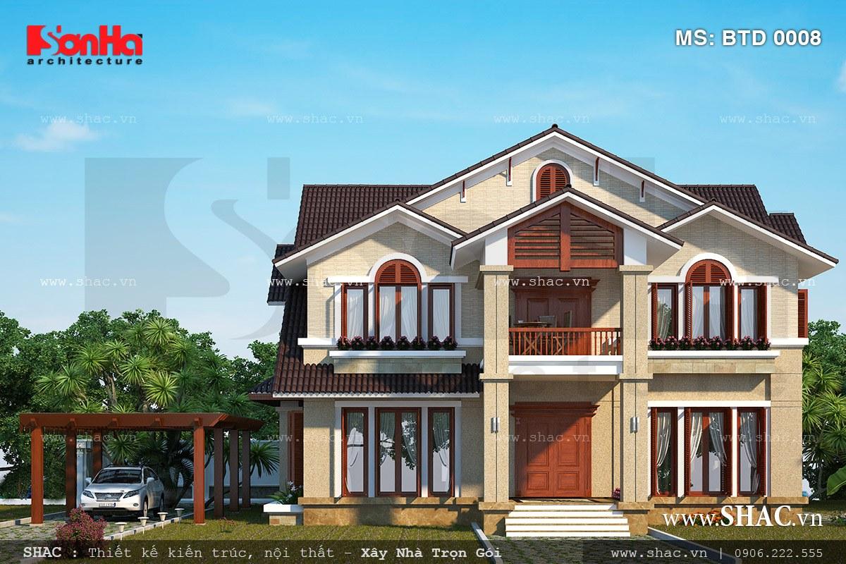 Biệt thự 2 tầng kiến trúc hiện đại - BTD 0008 3