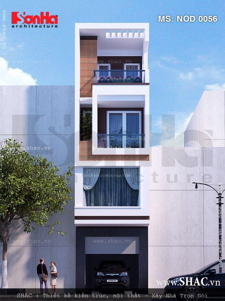 Tư vấn thiết kế nhà phố hiện đại 4 tầng, 5mx25m