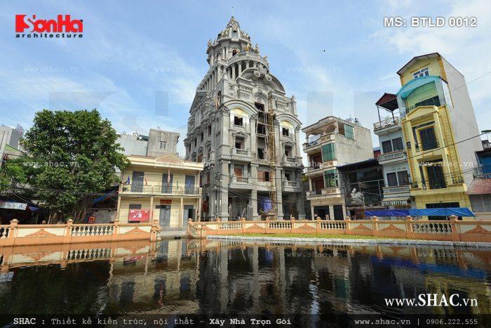 Ngôi biệt thự lâu đài 6 tầng tại Hà Nội – BTLD 0012