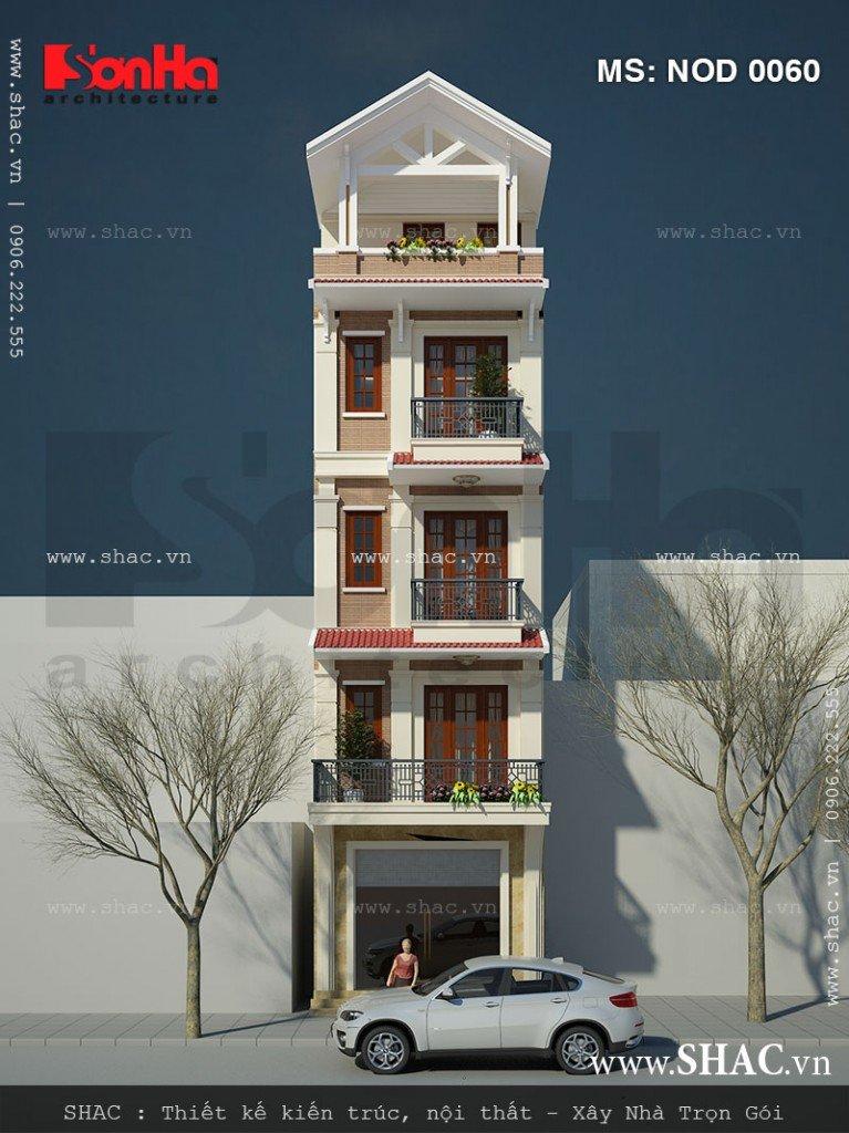 Thiết kế nhà lô 5 tầng kiến trúc hiện đại