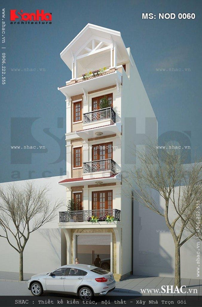 Nhà ống 5 tầng kiến trúc hiện đại