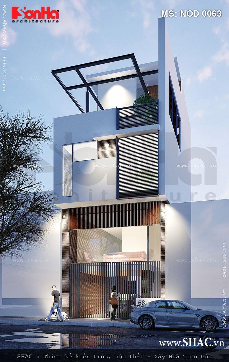 Thiết kế nhà ống 3,5 tầng theo kiến trúc hiện đại - NOD 0063 3