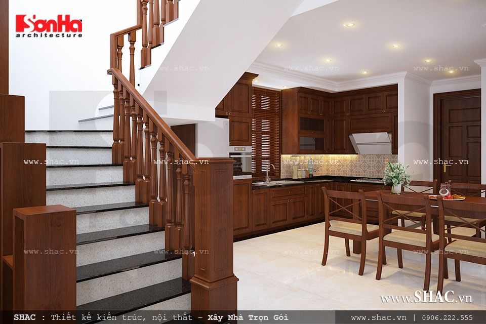Thiết kế mẫu nội thất gỗ cho bếp ăn đẹp