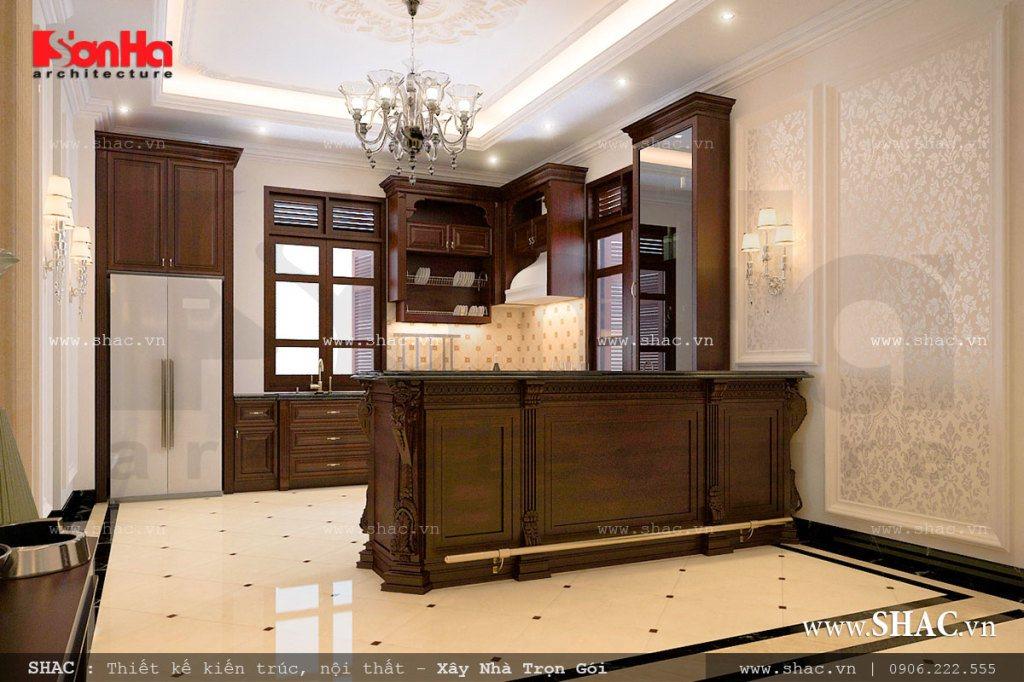 Nội thất gỗ cho phòng bếp cổ điển