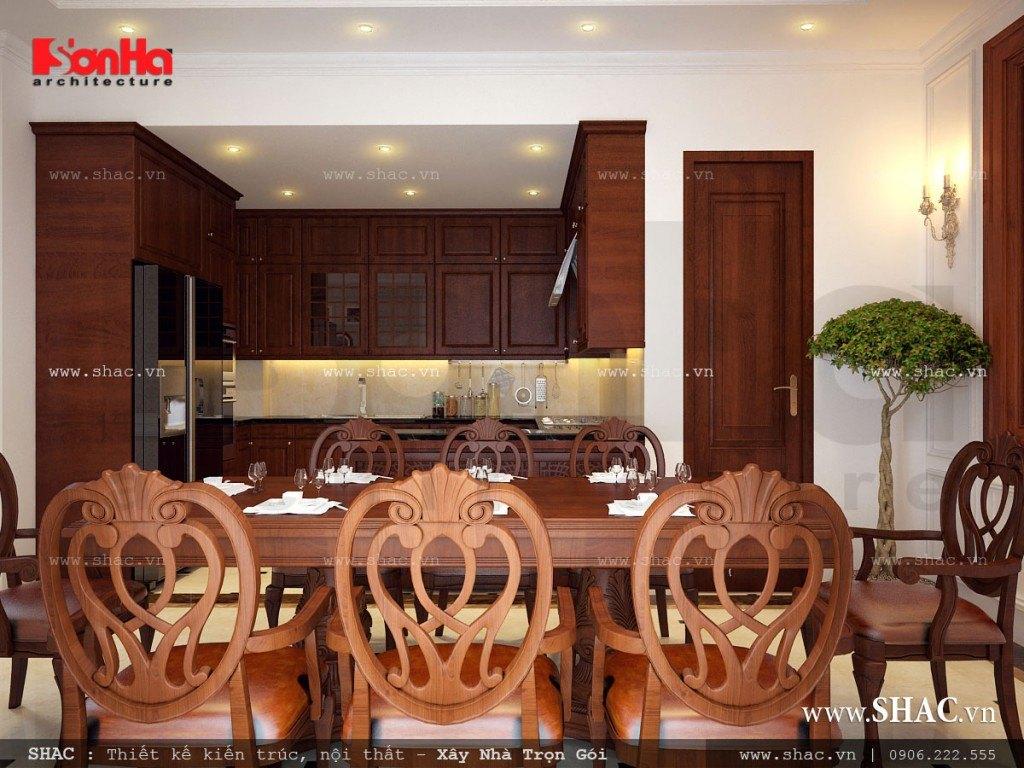 Thiết kế mẫu nội thất gỗ cho phòng ăn đẹp