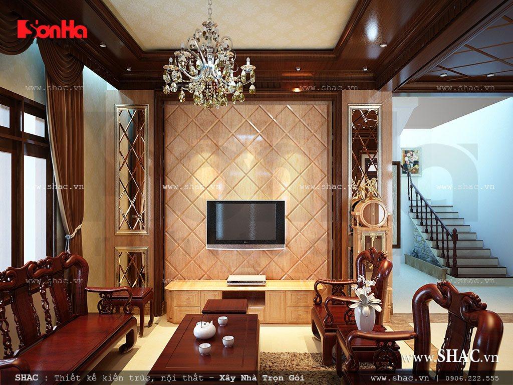 Phong khách đẹp với nội thất gỗ