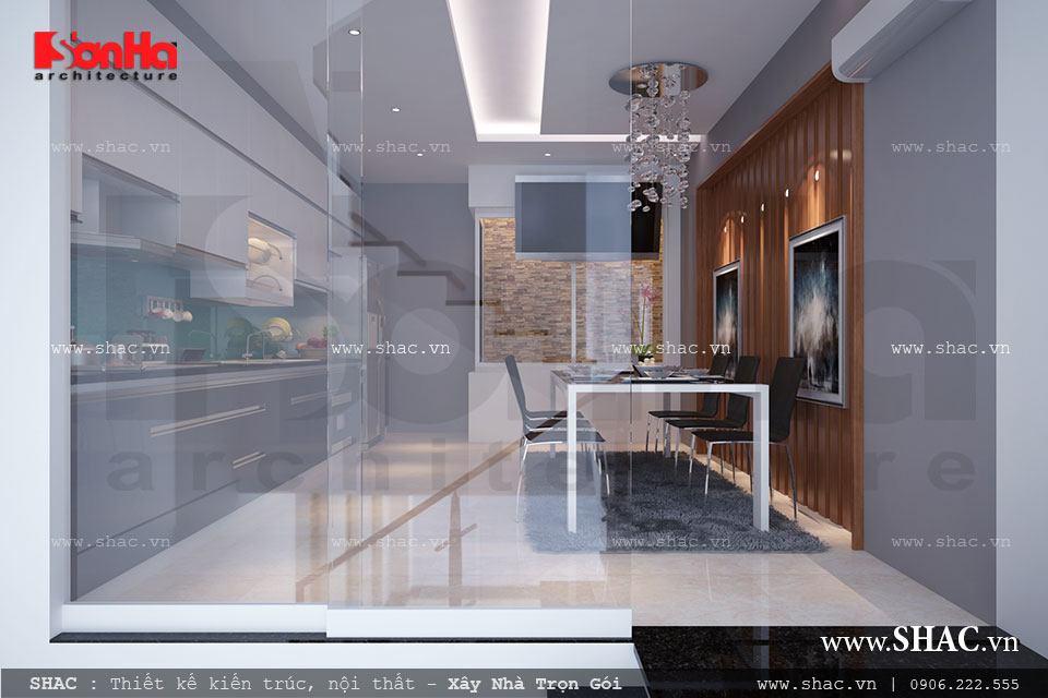 nội thất phòng ăn đẹp cho nhà phố
