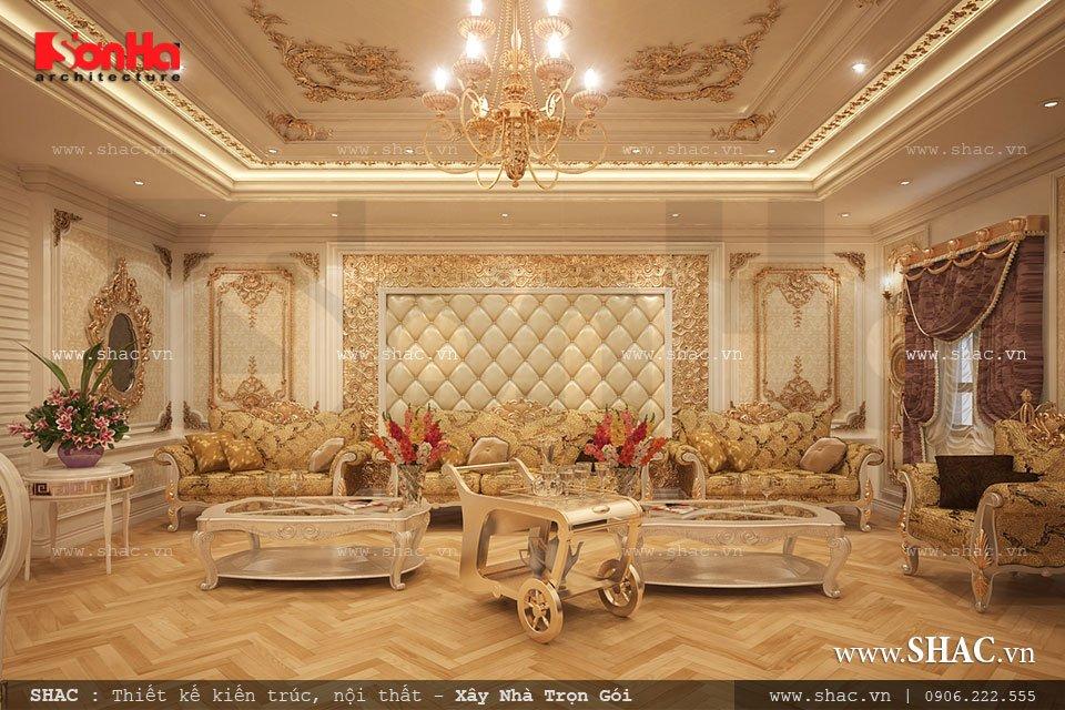 Mẫu nội thất phòng hát cổ điển hoàng gia