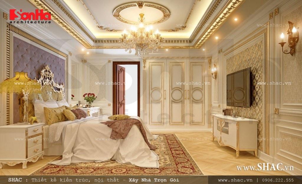 Thiết kế nội thất phòng ngủ cổ điển kiểu Pháp