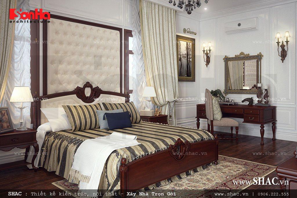 nội thất phòng ngủ biệt thự cổ điển đẹp nhất