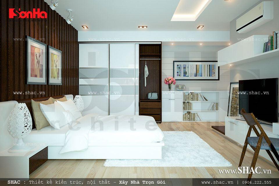 Nội thất phòng ngủ thiết kế theo phong cách hiện đại