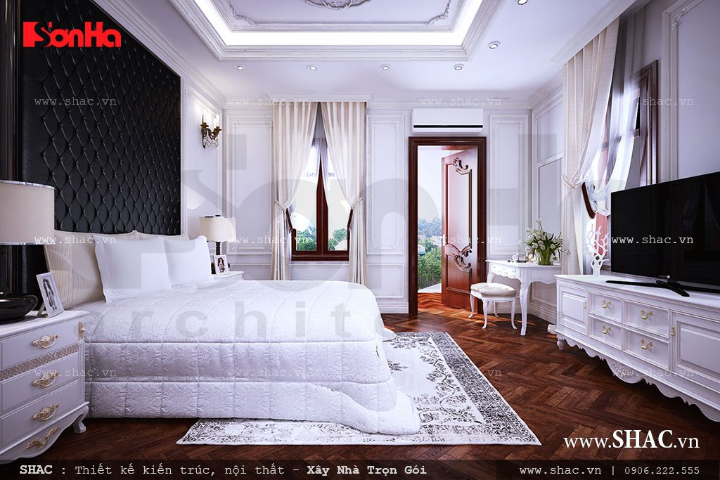 Nội thất phòng ngủ tân cổ điển đẹp
