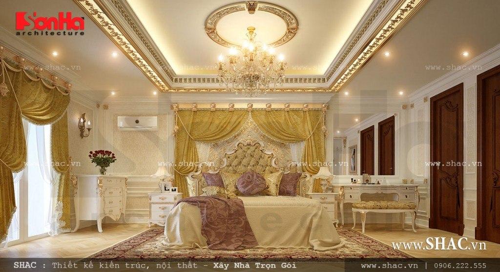 Mẫu nội thất phòng ngủ vương giả